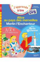 Disney - alice au pays des merveilles / merlin l-enchanteur special dys (dyslexie)