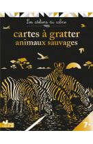 Cartes a gratter animaux sauvages - pochette avec accessoires