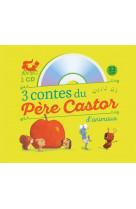 3 contes du pere castor d-animaux (+ cd)
