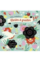 Cartes a gratter - fleurs
