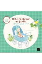 Bebe balthazar au jardin - qu-est-ce que je sens ? pedagogie montessori