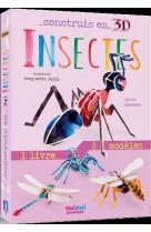 Construis en 3d - insectes