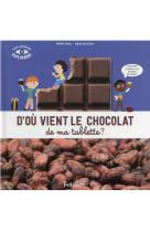D-ou vient le chocolat de ma tablette ?