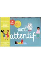 100% attentif - 30 jeux pour gagner en attention et en concentration