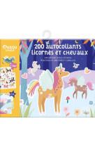 200 autocollants licornes et chevaux (edition 2021)
