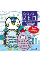 Color zen pour les mini-z - les animaux de l-hiver